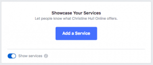 Add a Service Button allows you to add your service