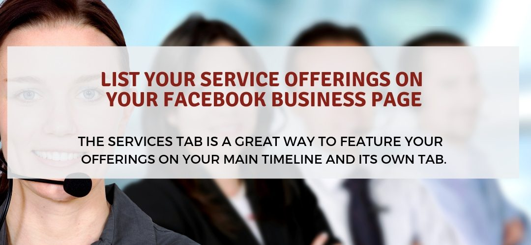How to List your Service Offerings on your Facebook Business Page