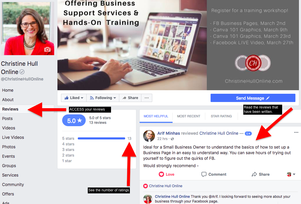 How to View Page Reviews and Ratings