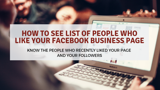 How to See the List of People Who Like Your Facebook Business Page
