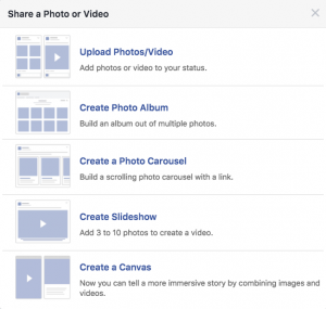Step 2: Creating a Slideshow on your Facebook page