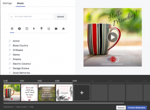 Add Music to your Slideshow