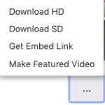Options to Download the video